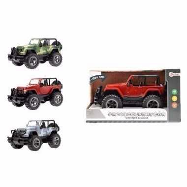 Speelgoedauto jeep wrangler met licht en geluidseffecten 27,5 cm