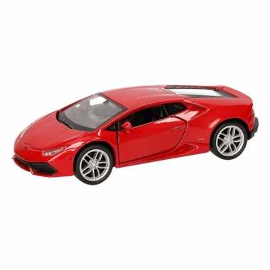 Speelgoedauto lamborghini huracan lp610-4 rood 12 cm
