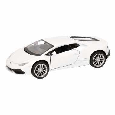 Speelgoedauto lamborghini huracan lp610-4 wit 12 cm