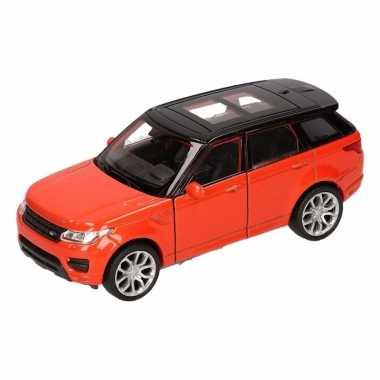 Speelgoedauto land rover range rover sport oranje 12 cm
