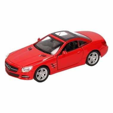 Speelgoedauto mercedes-benz 2012 sl500 cabrio rood 12 cm