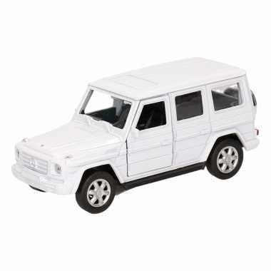 Speelgoedauto mercedes-benz g-class wit 12 cm