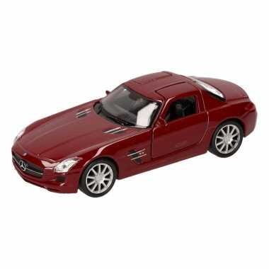 Speelgoedauto mercedes sls amg cabrio rood 11,5 cm
