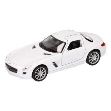 Speelgoedauto mercedes sls amg cabrio wit 11,5 cm