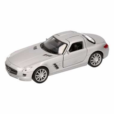 Speelgoedauto mercedes sls amg cabrio zilver 11,5 cm