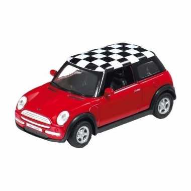 Speelgoedauto mini cooper rood 1:34