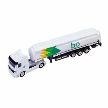 Speelgoedauto tankstation vrachtwagen bp wit 1:87