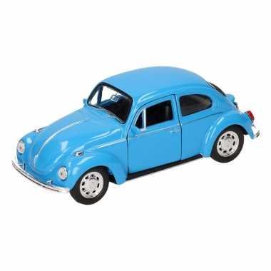 Speelgoedauto volkswagen kever classic blauw 14,5 cm