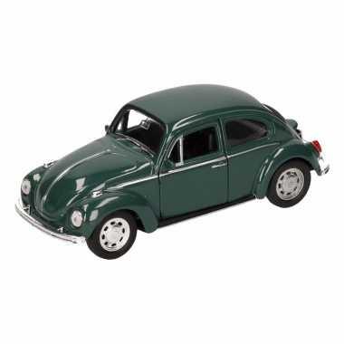 Speelgoedauto volkswagen kever classic donkergroen 14,5 cm