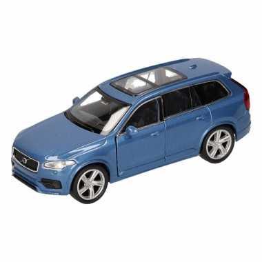 Speelgoedauto volvo 2015 xc 90 blauw 16 cm