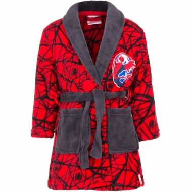 Spiderman fleece badjas rood