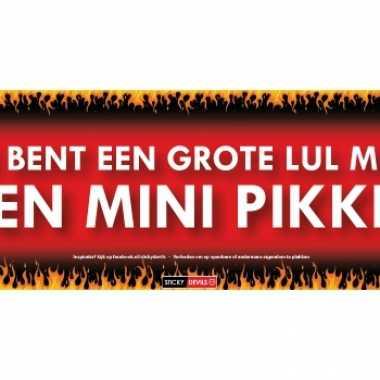 Sticky devil stickers tekst grote lul