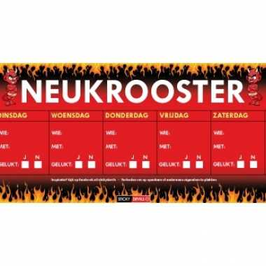 Sticky devil stickers tekst neukrooster per week