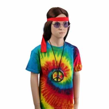T-shirt alternatieve print regenboog voor kinderen
