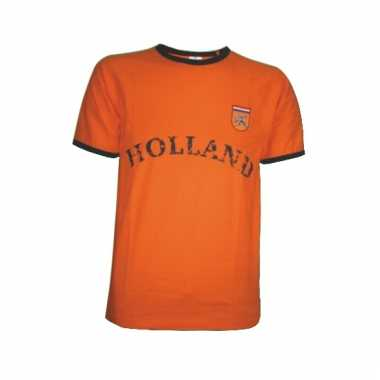 T-shirt oranje met borduursel holland