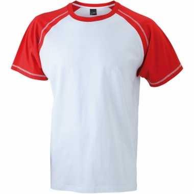 T-shirts voor heren in de kleuren wit en rood