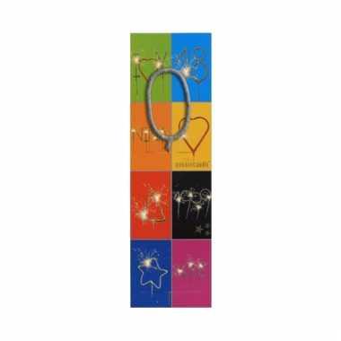 Taart sterretjes letter o van 7 cm