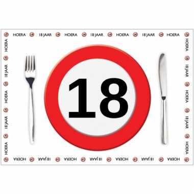 Tafel placemats 18 jaar 10 stuks