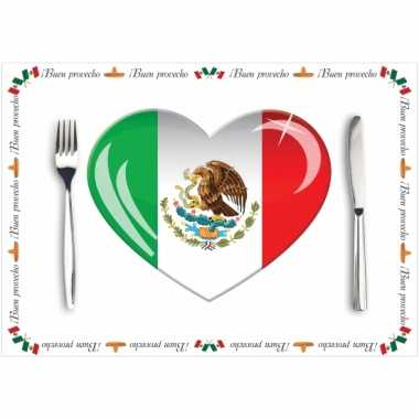 Tafel placemats mexico 10 stuks