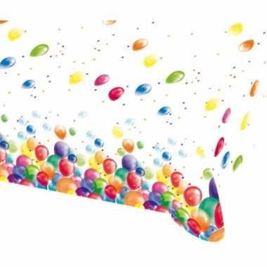 Tafelzeil met feestelijke ballonnen opdruk plastic 180x120