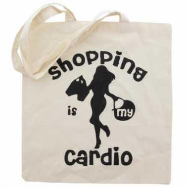 Tas 100% katoen cardio shopping