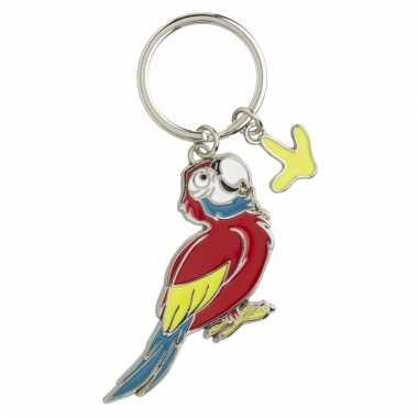 Tas sleutelhanger papegaai 5 cm
