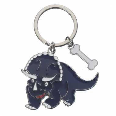 Tas sleutelhanger triceratops 5 cm