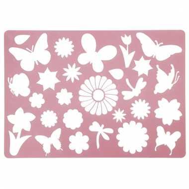 Teken sjabloon bloemen