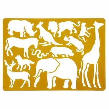 Teken sjabloon safari dieren