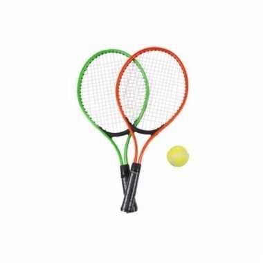 Tennis set groen/rood voor kinderen