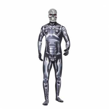 Terminator verkleedkleding second skin voor heren