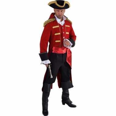 Theater rood piraten kostuum