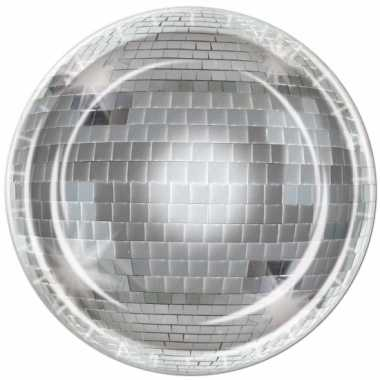 Thema disco bordjes 8 stuks