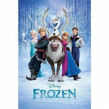 Themafeest frozen poster 61 x 91,5 cm