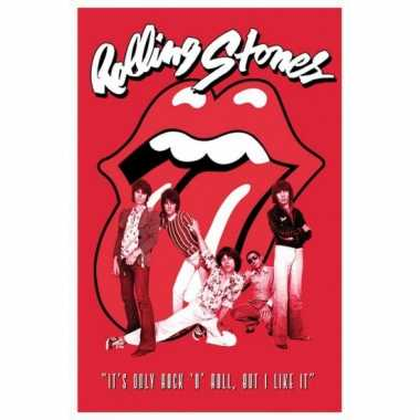 Themafeest rolling stones band poster 61 x 91,5 cm