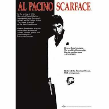 Themafeest scarface poster 61 x 91,5 cm