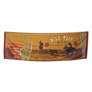 Themafeest western banner 220 cm