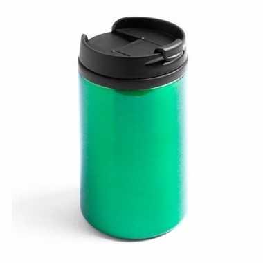 Thermos autobeker metallic groen 320 ml