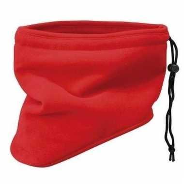 Thinsulate nekwarmers rood
