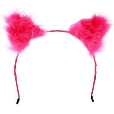 Tiara met roze oortjes