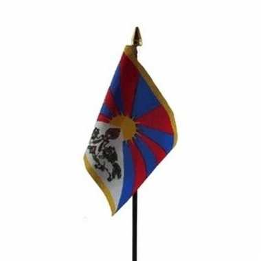 Tibet luxe zwaaivlaggetje polyester