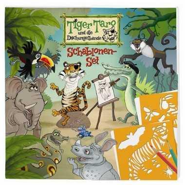 Tiger taro teken sjablonenset 4 soorten