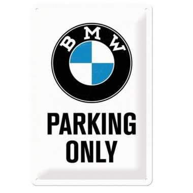 Tinnen muurplaatje bmw parking only