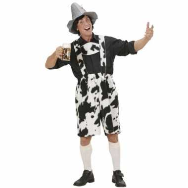 Tiroler broek met koeienprint