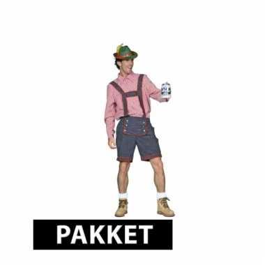 Tiroler / oktoberfest kleding pakket voor heren maat xl