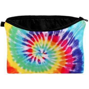 Toilettas regenboog tie-dye print