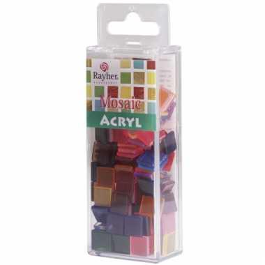 Transparante mozaiek mix kleuren