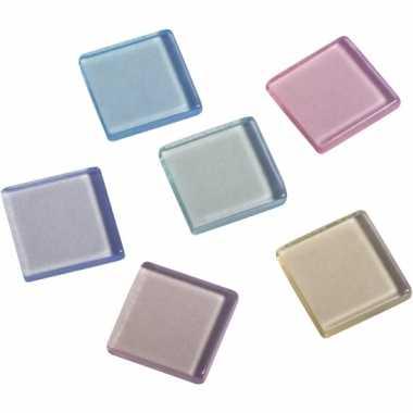 Transparante mozaiek pastel