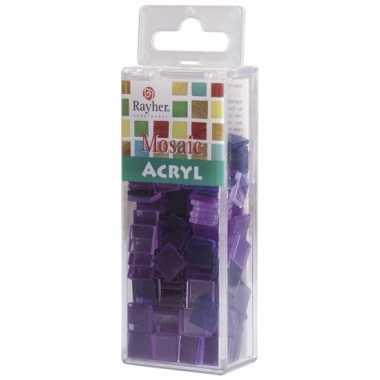 Transparante mozaiek violet
