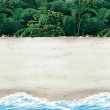 Tropische strand muurversiering 12,2 m